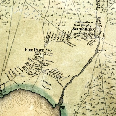 1858 Chace Map of Fire Pace (Brookhaven) and South Haven Hamlets