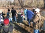 Bellport High School History Club Cleans Up Barteau Cemetery