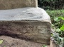#79.00.7  Marking on gravestone identifying the original stone mason