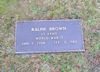 #021.002.Brown02:  Ralph Brown grave marker