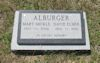 #021.167C.Alburger:  Mary Mickle & David Elmer Alburger gravestone