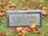 #021.029.Brown/Hunn02:  Peter K. Brown gravestone