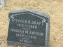 #021.048.Raynor01:  Stephen B. Craft & Hannah M. Raynor headstone.