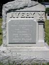 Welden Avery family gravestone