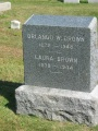 #028.Brown:  Orlando and Laura Brown gravestone