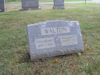 #028.Walton:  Anna Bennet & William D. Walton gravestone