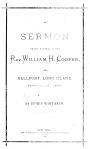 SERMON at the funeral of the Rev. William H. Cooper