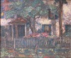 Painting:  'House with Flower Garden,'