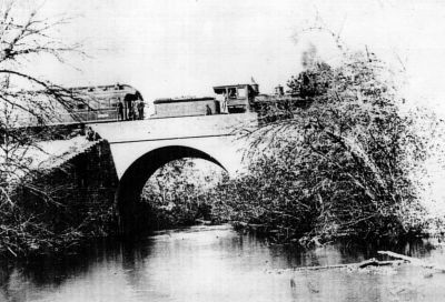 Main line LIRR Bridge over Carman's River about 1900